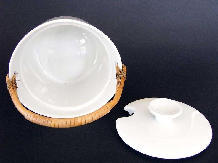Arabia Ulla Procope Kilta Finland White Jar Cane Handle Lid Excellent Cond 1957   eBay