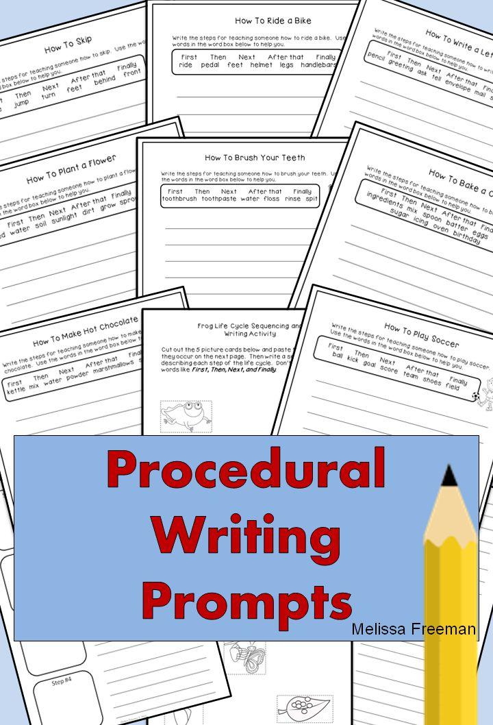 grade 3 procedural writing activities