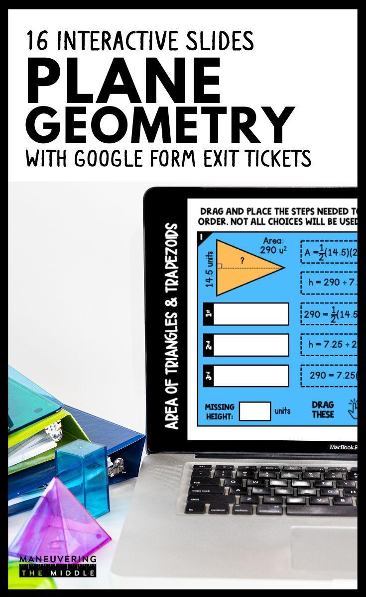 Plane Geometry Digital Math Activity Bundle 7th Grade Math Distance Learning Math Activities Plane Geometry Math Websites [ 1200 x 735 Pixel ]