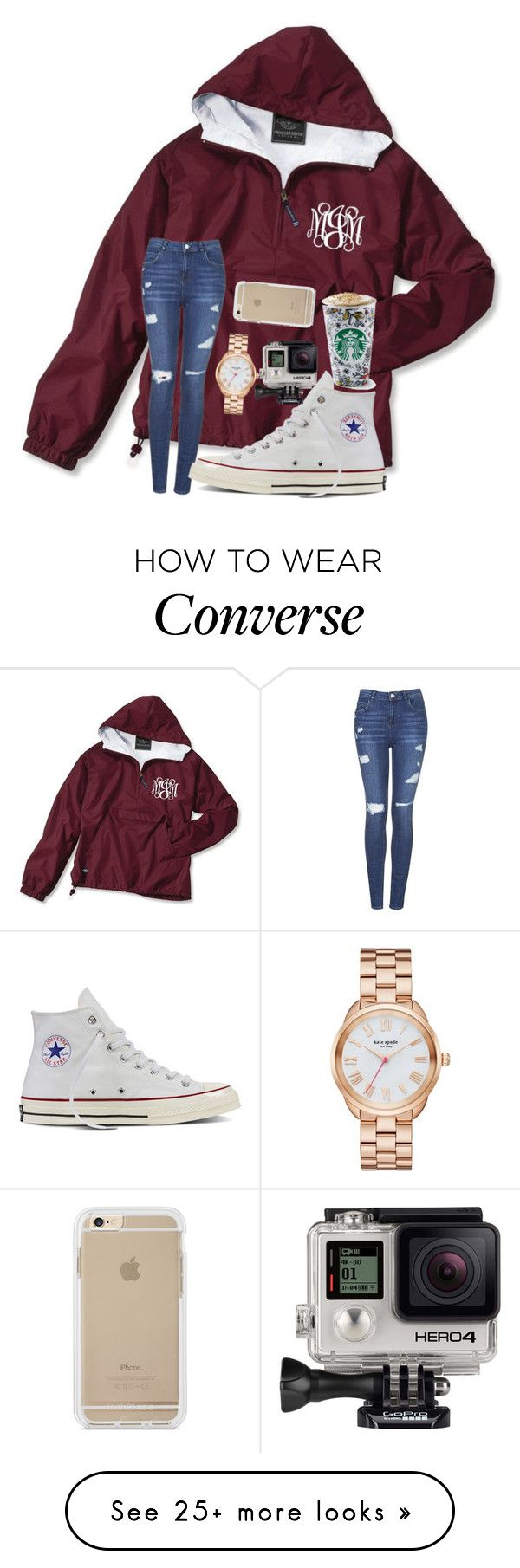 """Who's ready for fall??"" by mmprep on Polyvore featuring Topshop, Converse, Kate Spade and GoPro"