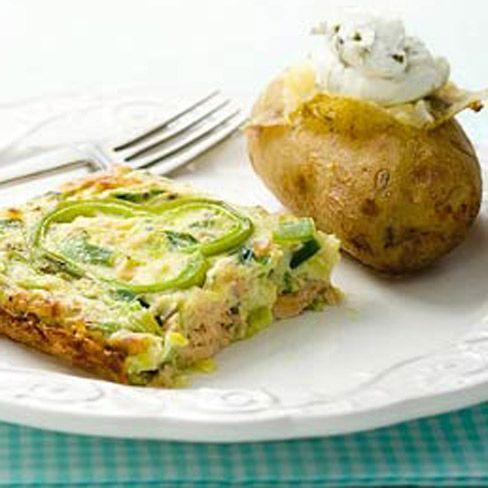 Prei met zalm en aardappels uit de oven