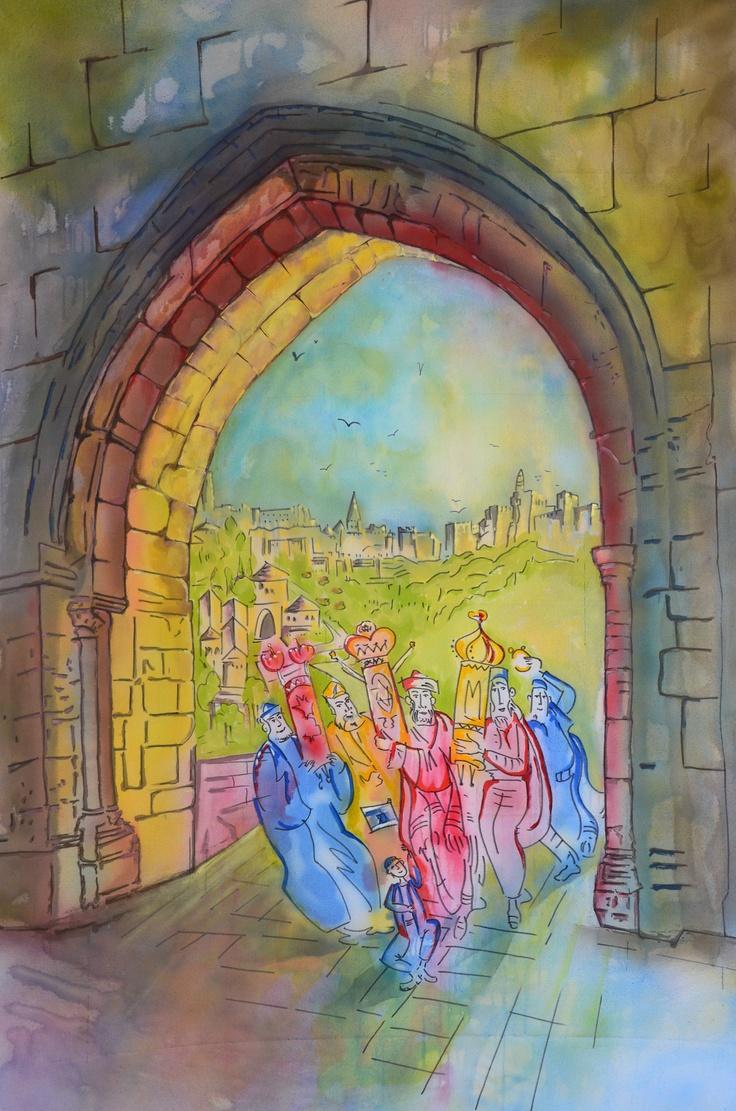 Sukkah Decorations Large 8 Ft X 5 Ft Canvas Paintings