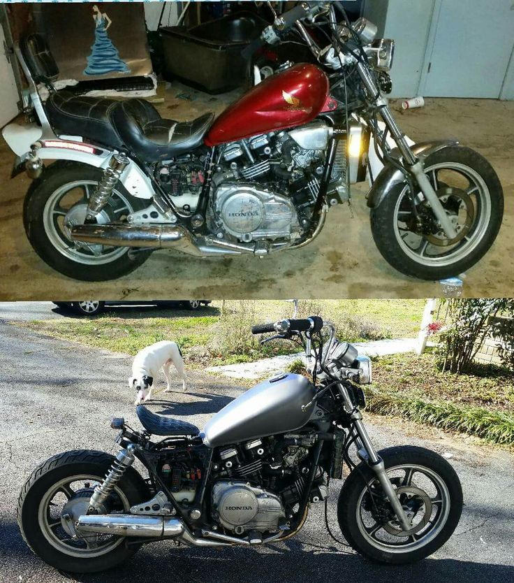 85 honda magna brat bobber before/after