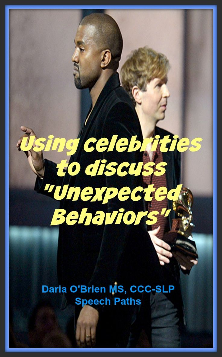 "Your tween/teens will love these social cognition lessons of ""unexpected"" celebrity behaviors using videos and current news!"