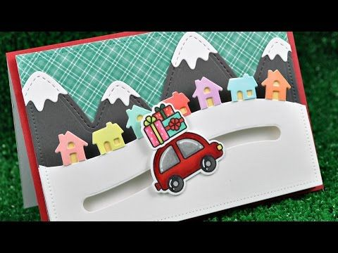 Intro to Home for the Holidays and Little Town Border + a card from start to finish - YouTube