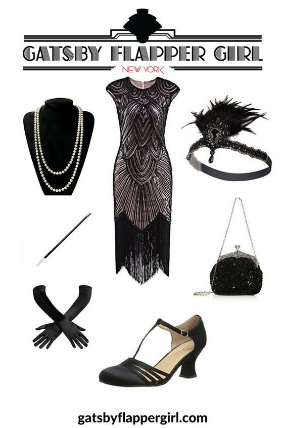 b5745cbb329 Gatsby Attire for Female • Find the perfect 20s Outfit   Get ready for your Great  Gatsby Themed Party  Flapper  GatsbyFlapperGirl