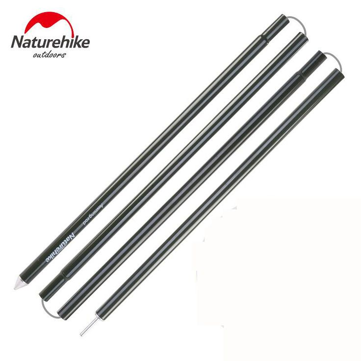 Naturehike tarp poles 2pcs/pair Thicken Outdoor Camping tent poles Aluminum tent Accessories Awning rod camping equipment