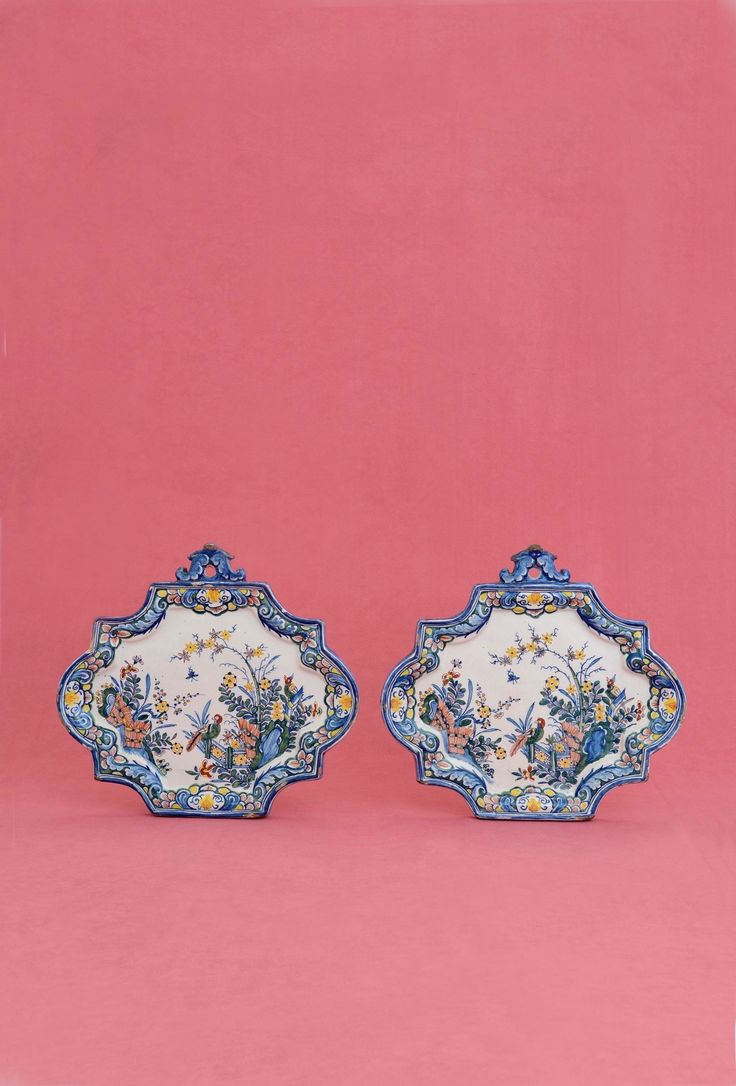Collection item • D1333. Pair of Polychrome Plaques Delft, circa 1735-45  Lengths: 24.8 cm. (9 3/4 in.)     Share      Download Download larger image    Images on this website are licensed under a Creative Commons Attribution-NoDerivs 3.0 Unported License.