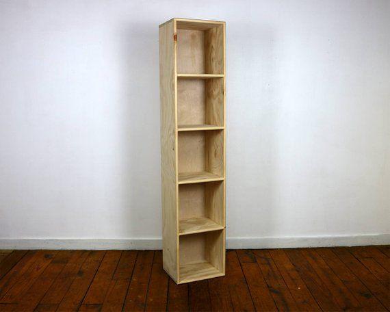 Five Cube Bookshelf Finished Unfinished Modern Apartment Minimalist Vinyl Storage Furniture Storage Furniture Vinyl Storage Bookshelves