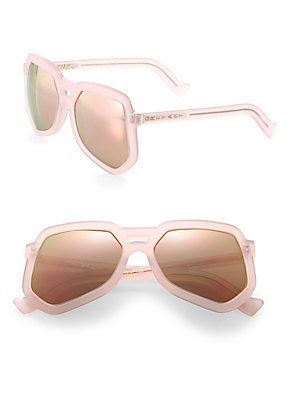 Grey Ant Clip 56MM Large Aviator Sunglasses - Clouded Rose - Size No S