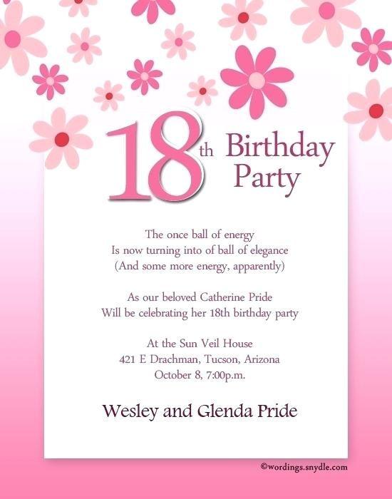 Elegant Invitation Template Letter Birthday Invitation Message Birthday Party Invitation Wording Free Birthday Invitation Templates