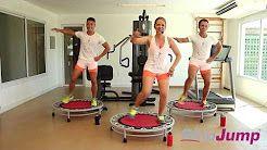 fitness trampolin übungen - YouTube