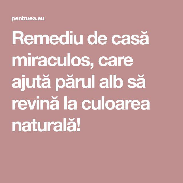 Remediu de casă miraculos, care ajută părul alb să revină la culoarea naturală!