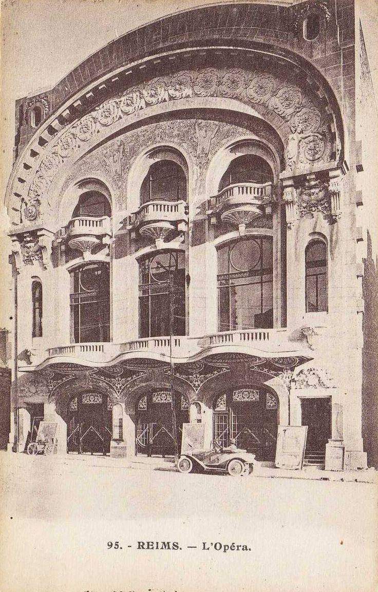 """Photo libre de droit (domaine public)   L'ancien cinéma """"Opéra"""" de Reims (51) fut construit de 1922 à 1923.       Photo libre de droit (..."""