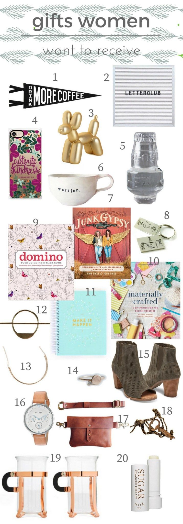 20 gifts that women will love are found in this list of gift ideas!