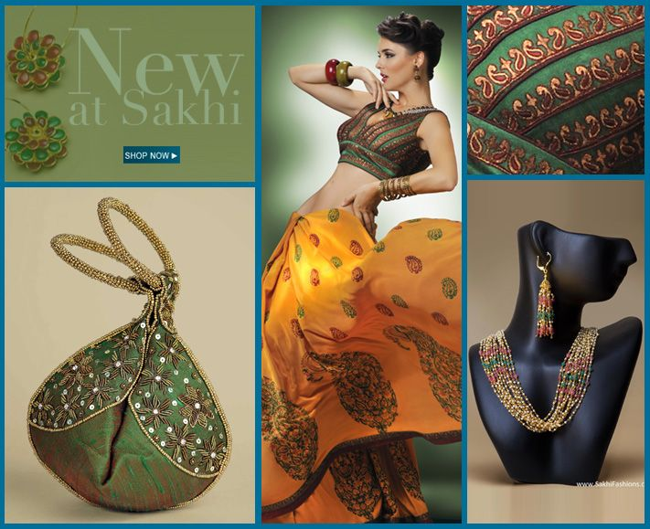 Sarees, few salwar, some jewelry, some evening purses. Indian Designer Sarees Online Shopping - Sakhi Fashions