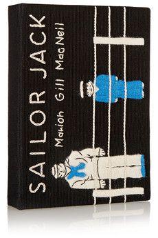 Olympia Le-Tan Mini Sailor Jack embroidered clutch | THE OUTNET