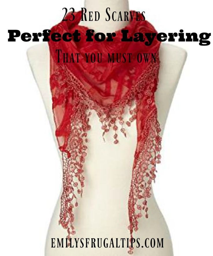 23 Red Scarves that are perfect for layering during the winter and summer days. Great pieces that can be used throughout the year. You need to own these scarves!