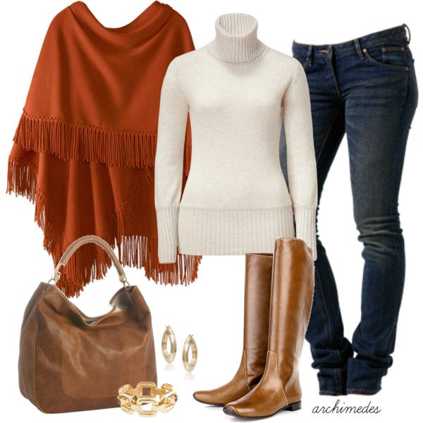 """A Chill in the Air"" by archimedes16 on Polyvore: Casual Outfit, Clothing, Burnt Orange, Fall Looks, Styles, Fall Outfit, Coldwater Creek Outfit, Polyvore Fashion, Cold Weather"