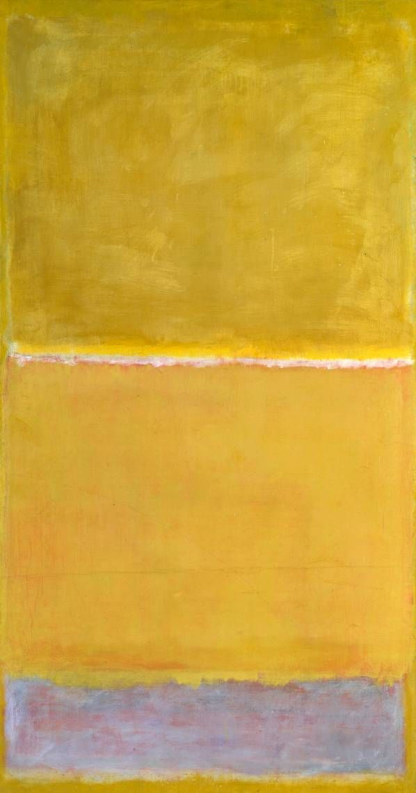 Mark Rothko. Untitled, c. 1950-52. Oil on canvas. 190 x 101.1 cm. Playing with colors and space. Association with nature, without unnecessary details.
