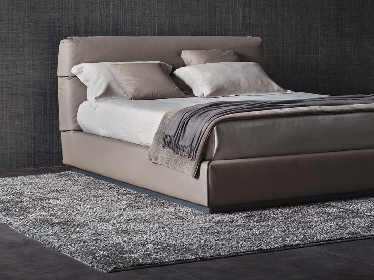 Marvelous GENTLEMAN Bed With High Headboard By Flou Design Carlo Colombo