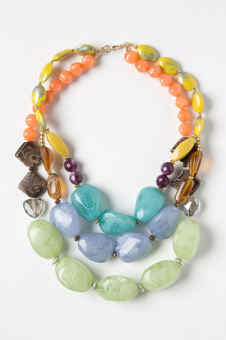 Lagniappe Necklace: Boho Chic, Woman Fashion, Statement Necklaces, Beads Necklaces, Necklaces Anthropology, Lagniapp Necklaces, Anthropology Necklaces, Summer Colors, Chunky Necklaces