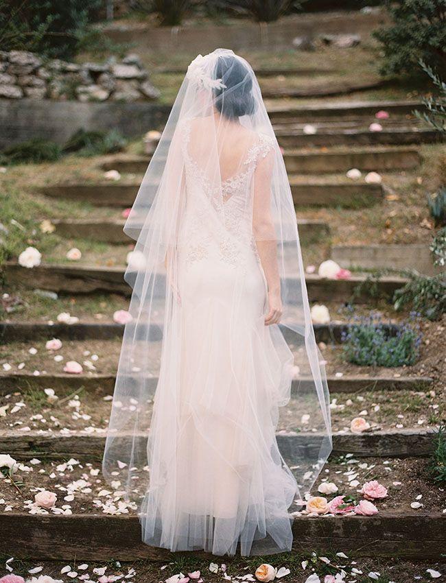 gorgeous floor length veil from Erica Elizabeth Designs