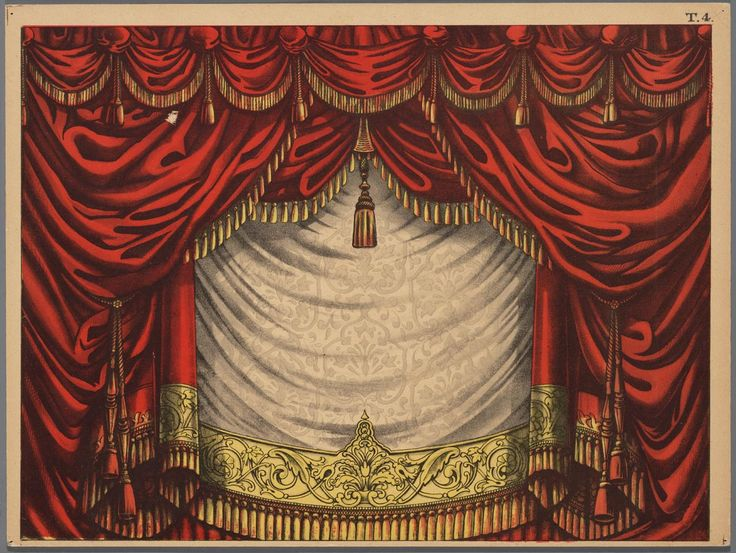 Papieren theater in kleur, voorstellende een voordoekhttp://www.geheugenvanneder… – Joana Cartocci