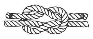 Square knot or reef knot literal interpretation of nyansapo