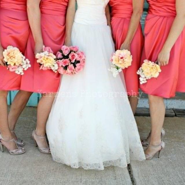 Coral wedding - Ivory dress - MY wedding!