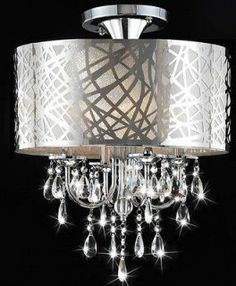 crystal ceiling fan | Home & Garden Lamps Lighting & Ceiling Fans Chandeliers & Ceiling ...