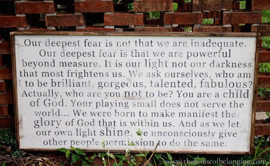 Powerful Beyond Measure Sign by TheHouseofBelonging on Etsy, $125.00