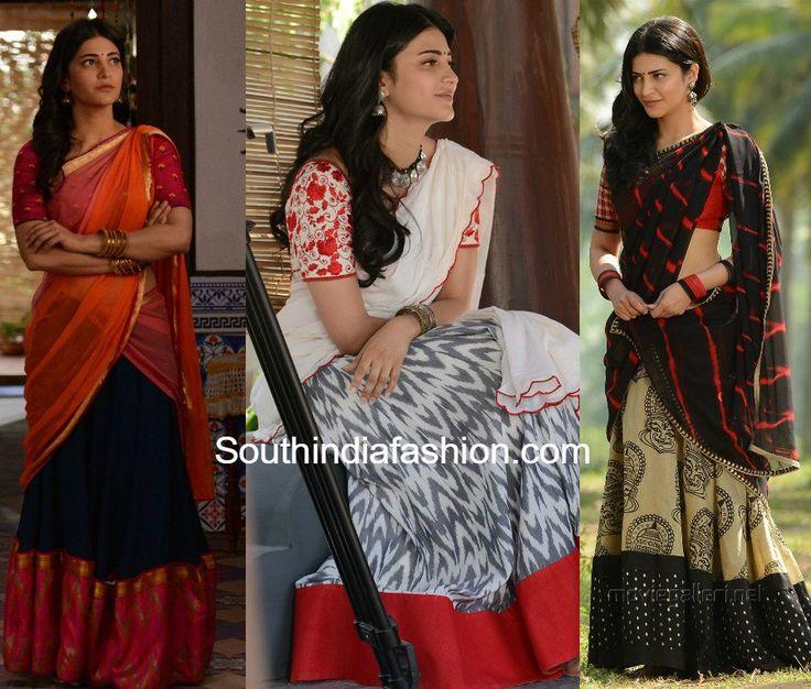 Shruti Haasan's Half Sarees in Katamarayudu Movie