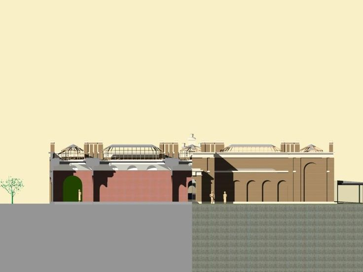 Dulwich Gallery sectional elevation (front) | Pearltrees