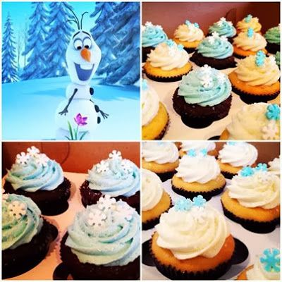"""FROZEN"" theme cupcakes"