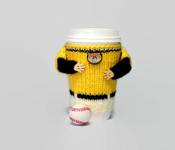 Pittsburgh Pirates cup cozy. MLB Pirates shirt. Baseball gift. Ice coffee sleeve. Coffee warmer. Travel mug cozy Mug sweater Starbucks cup by MugHugCozy on Etsy
