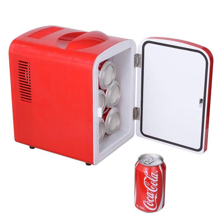 Attractive Portable Mini Fridge Cooler And Warmer Auto Car Boat Home Office AC U0026 DC Red