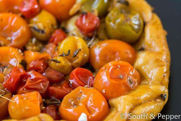 Tomaten tarte tatin geitenkaas-mascarponecrème