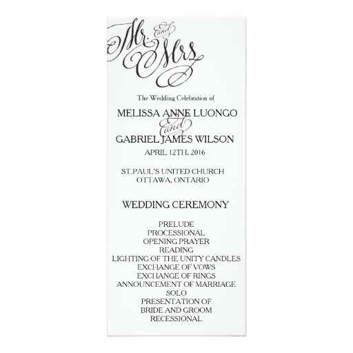 290 best classic wedding invitations images on pinterest classic classic mr mrs wedding program stopboris Choice Image