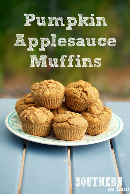 Healthy Pumpkin Applesauce Muffins - gluten free, low fat, sugar free
