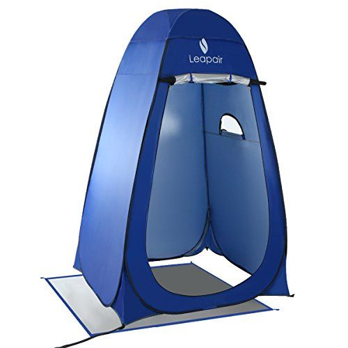 Leapair Dressing Tent Shower Privacy Portable Camping Beach Toilet Pop Up Tents Changing Room Outdoor Backpack Shelter Blue. For product info go to:  https://all4hiking.com/products/leapair-dressing-tent-shower-privacy-portable-camping-beach-toilet-pop-up-tents-changing-room-outdoor-backpack-shelter-blue/