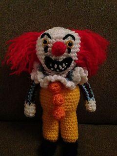 Pennywise (from 'It' by Stephen King) the dancing clown - free crochet clown pattern by Kerstin Batz