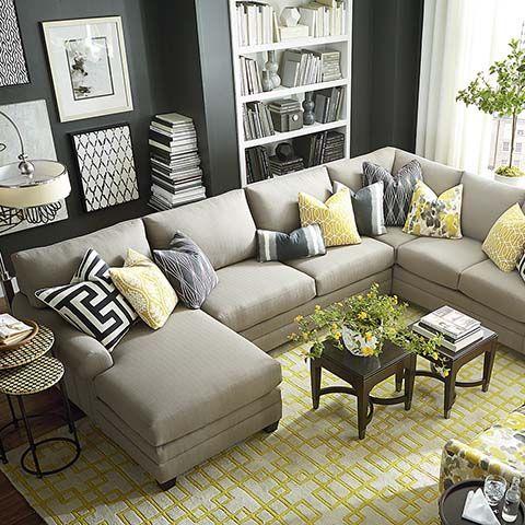 HGTV HOME Design Studio CU.2 U-Shaped Sectional by Bassett Furniture