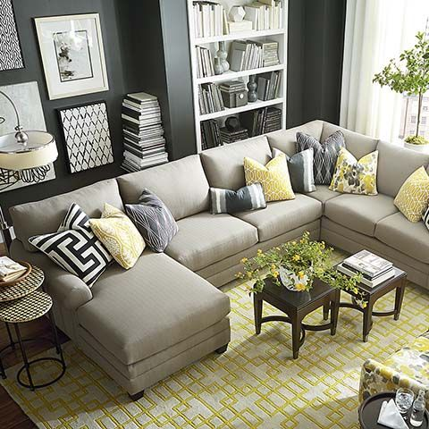 HGTV HOME Design Studio CU.2 U-Shaped Sectional by Bassett Furniture. another idea for living room