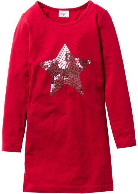 Платье с пайетками, bpc bonprix collection, темно-красный