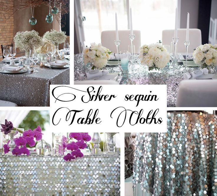 Layering sequin table linens sacramento bay area sequin for Table linen color combinations