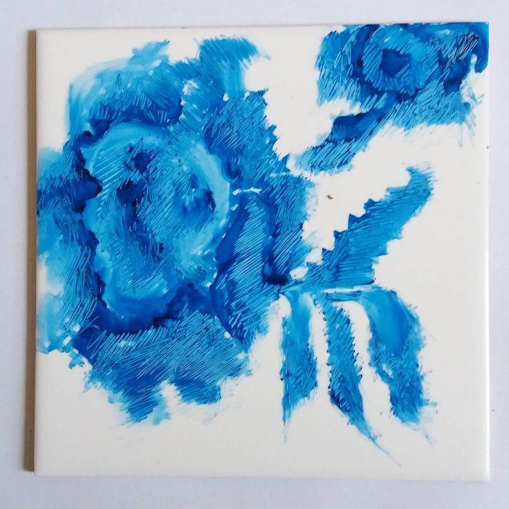 "Ansofie Jordaan Art | Day 2 | December | #paintingeveryday #delftblue #scratchart"""