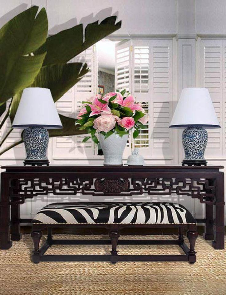 Stuart Membery Home ~ Blue And White ~ Zebra Stripes ~ Chinoiserie