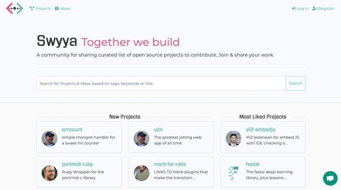 Swyya: Sharing a curated list of open source projects to contribute