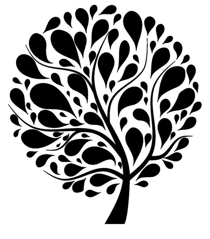 "Drop Tree // unmounted rubber stamp (3""x4"") FLONZ UM Droptree #Flonz #Vintage"